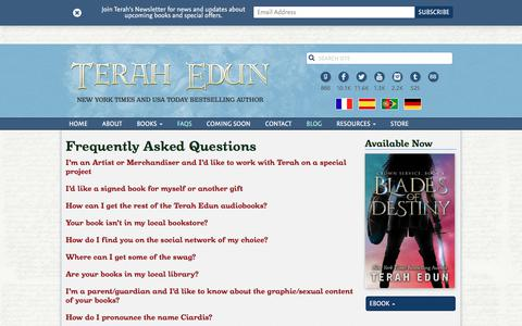 Screenshot of FAQ Page terahedun.com - FAQs Archive   Terah Edun - captured July 6, 2018
