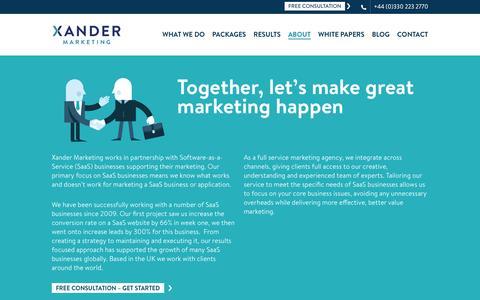 About Xander Marketing | Xander Marketing