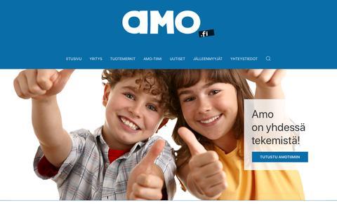 Screenshot of Home Page amo.fi - Start - captured Nov. 12, 2018
