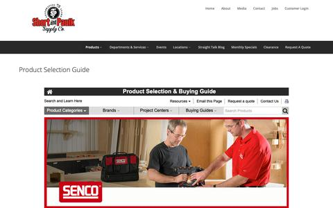 Screenshot of Products Page shortpaulk.com - Product Selection Guide - Short & Paulk Building Supply - captured Oct. 18, 2018