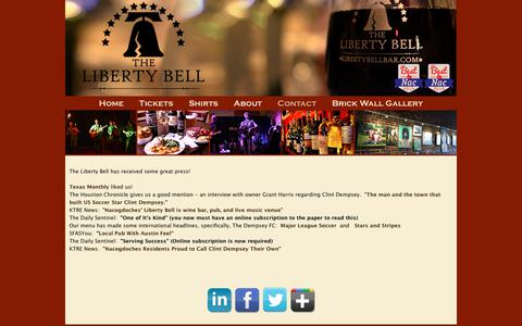 Screenshot of Press Page libertybellbar.com - The Liberty Bell Bar - Press - captured Nov. 10, 2017
