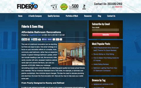Screenshot of Blog fiderio.com - Blog - captured Oct. 5, 2014