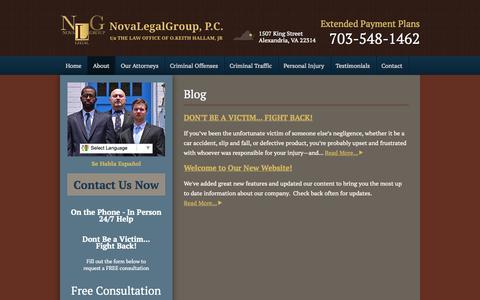 Screenshot of Blog novalegalgroup.com - Blog - NovaLegalGroup, P.C. - captured Nov. 3, 2014
