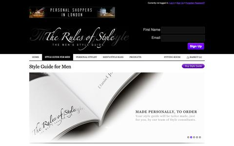 Screenshot of About Page therulesofstyle.com - Style Guide for Men | The Rules of Style - The Men's Style Guide - captured Oct. 9, 2014