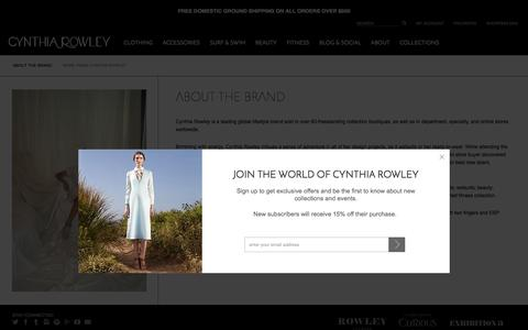 Screenshot of About Page cynthiarowley.com - Cynthia Rowley | About the Brand | About The Brand - captured Nov. 14, 2015