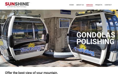 Screenshot of Services Page sunshinepolishing.com - Gondolas Polishing – Sunshine Polishing - captured Oct. 18, 2018