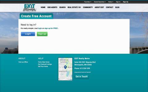 Screenshot of Signup Page Login Page ermetro.com captured Nov. 9, 2018
