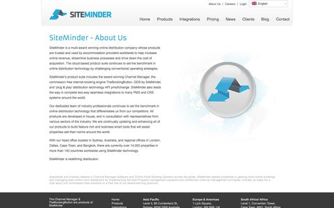 Screenshot of About Page siteminder.com - World's #1 Channel Manager & Hotel booking Software Provider | SiteMinder - captured Oct. 10, 2014
