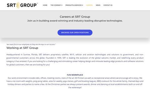 Screenshot of Jobs Page srtgrp.com - Careers – SRT Group - captured Nov. 15, 2019