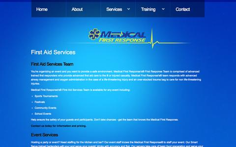 Screenshot of Services Page medicalfirstresponse.com - Our team - captured Oct. 27, 2014