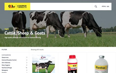 Screenshot of Products Page coopers.co.ke - Cattle, Sheep & Goats Archives - Cooper K- Brands Limited - captured Sept. 29, 2018