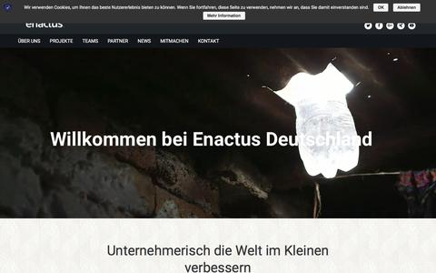 Screenshot of Home Page enactus.de - Home - enactus - captured Sept. 23, 2018