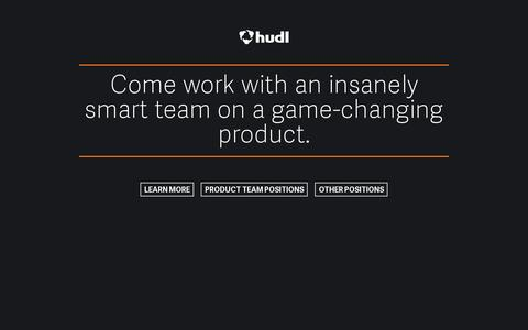 Screenshot of Jobs Page hudl.com - Software Developer, Product Designer, Project Manager, and Quality Assurance Jobs - Hudl - captured July 20, 2014