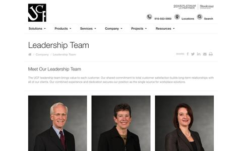 Screenshot of Team Page ucfinc.com - United Corporate Furnishings Management Team - captured Nov. 28, 2016