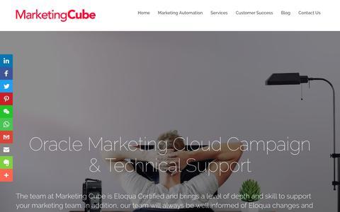 Screenshot of Support Page marketingcube.com.au - Technical Support | Marketing Cube - captured Nov. 5, 2018
