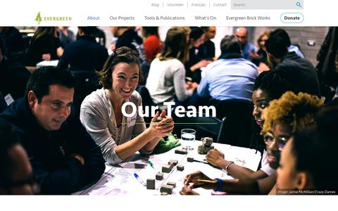 Screenshot of Team Page evergreen.ca - Our Team | Evergreen - captured Sept. 19, 2018