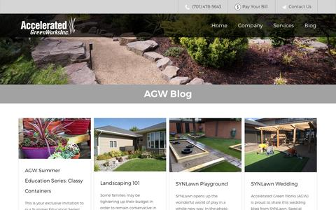 Screenshot of Blog acceleratedgreenworks.com - Blog - Accelerated Green Works - captured Nov. 20, 2016