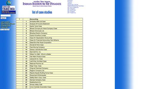 Screenshot of Case Studies Page iif.edu - Acedemic resources of IIF: IIF Fratenity - captured Sept. 19, 2014