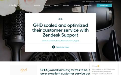 Screenshot of Support Page zendesk.com - GHD Customer Service Story   Zendesk - captured Nov. 10, 2017