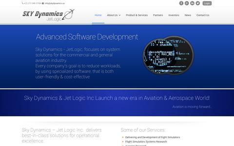 Screenshot of Home Page Login Page skydynamics.us - SkyDynamics – JetLogic Inc ‹ Aviation is moving forward - captured Feb. 4, 2016