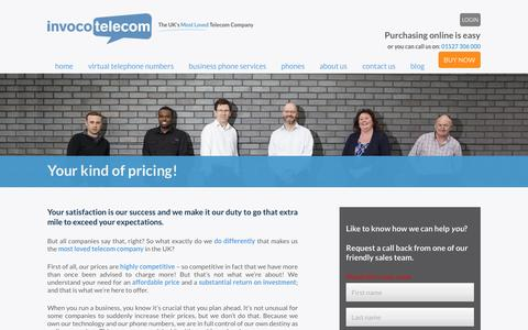 Screenshot of Pricing Page invoco.net - Invoco - Your kind of pricing - captured Nov. 26, 2016