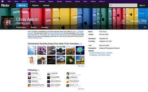 Screenshot of Flickr Page flickr.com - Flickr: ChrisAnton - captured Oct. 22, 2014
