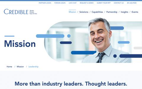 Screenshot of Team Page credibleinc.com - Leadership – Credible - captured Feb. 13, 2019