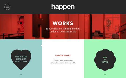 Screenshot of Team Page happen.se - Works • Happen - captured Jan. 25, 2016