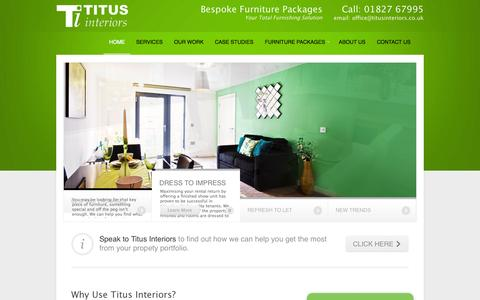 Screenshot of Home Page titusinteriors.co.uk - Titus Interiors - Your Total Furnishing Solution - captured Oct. 7, 2014
