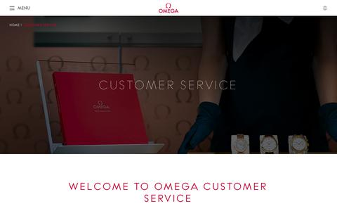 Screenshot of Support Page omegawatches.com - OMEGA Watches: Customer Service - captured Oct. 2, 2015