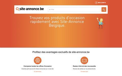 Screenshot of Home Page site-annonce.be - Site d'annonces de produits d'occasion entre particuliers en Belgique. - captured June 26, 2017
