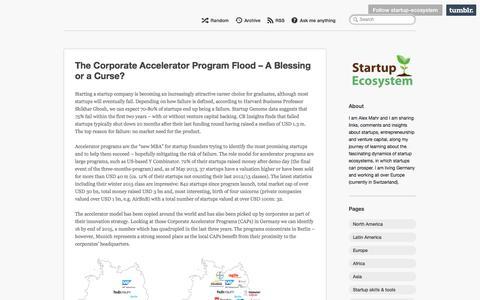 Screenshot of Home Page startup-ecosystem.com - Startup Ecosystem - captured Jan. 19, 2018