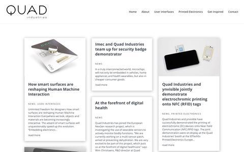 Screenshot of Press Page quad-ind.com - News Archives - Quad Industries - captured Sept. 28, 2018