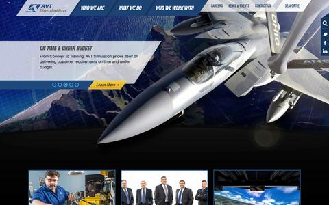 Screenshot of Home Page avtsim.com captured Jan. 29, 2016