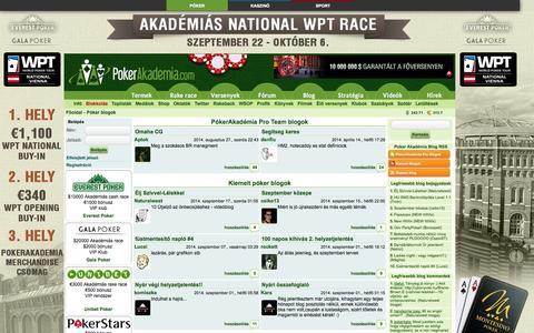Screenshot of Blog pokerakademia.com - Póker blog - captured Sept. 19, 2014