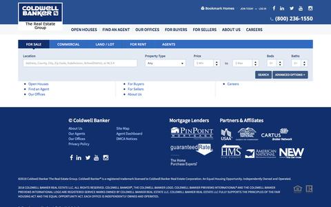 Screenshot of Site Map Page coldwellhomes.com - Real Estate   Coldwell Banker The Real Estate Group - captured July 1, 2018