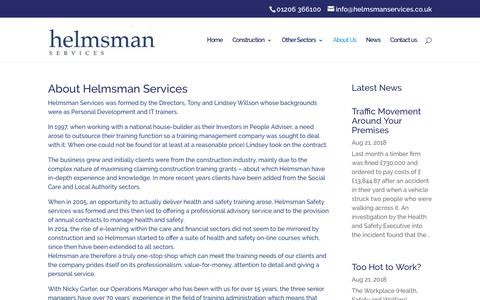 Screenshot of About Page helmsmanservices.co.uk - About Helmsman Outsourced Services   Helmsman Services - captured Sept. 28, 2018