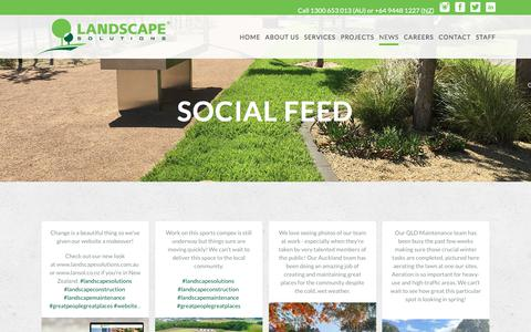 Screenshot of Press Page landscapesolutions.com.au - Social Media Feed from Landscape Solutions on Instagram - captured July 16, 2018