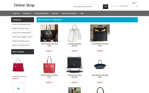 Screenshot of Home Page cahro.co.uk - Shop the best Fendi bags collections at our Fendi online store. - captured Sept. 30, 2018