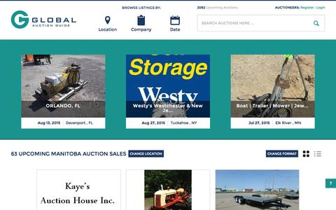 Screenshot of Home Page globalauctionguide.com - Global Auction Guide- Internet's leading resource for auction sale bills             online - captured July 22, 2015