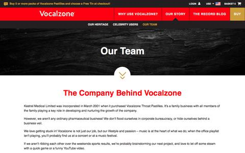 Screenshot of Team Page vocalzone.com - Our Team - Vocalzone - captured Oct. 17, 2017