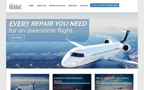 Screenshot of Site Map Page rmzaviation.com - Aircraft Repair & Painting in GA. Serving Atlanta & the Surrounding Areas | RMZ Aviation - captured Nov. 2, 2017