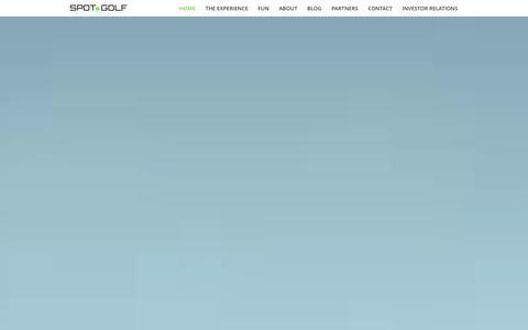 Screenshot of Home Page techgolf.com - Spot Golf | Next Generation Golf Experience - captured Jan. 12, 2016