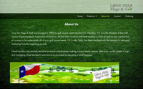 Screenshot of About Page lonestargolfflag.com - About Us - Lone Star Flags & Golf - captured Oct. 3, 2014