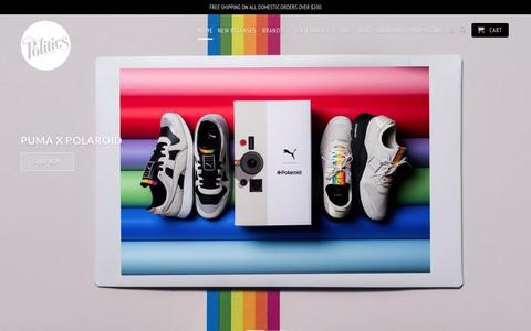 Screenshot of Home Page sneakerpolitics.com - Sneaker Politics - captured Sept. 22, 2018