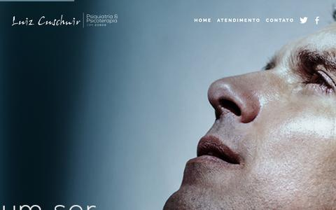 Screenshot of Home Page luizcuschnir.com.br - Home - Luiz Cuschnir - Psiquiatria e PsicoterapiaLuiz Cuschnir – Psiquiatria e Psicoterapia - captured Oct. 5, 2014