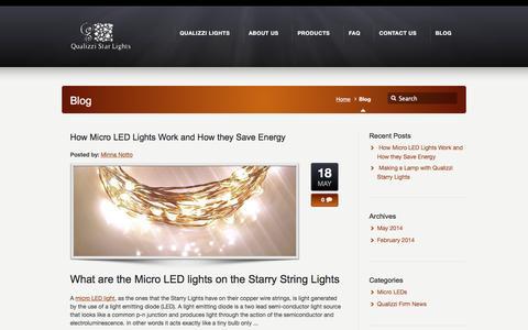 Screenshot of Blog qualizzi.com - Blog –  Qualizzi Starry and String Lights - captured March 23, 2016