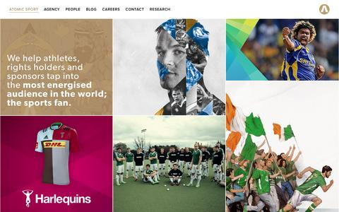 Screenshot of Home Page atomic-sport.com - Atomic Sport - captured July 26, 2016
