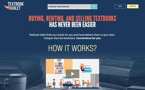 Screenshot of Home Page textbookvalet.com - Textbook Valet | Buy, Sell, and Rent Textbooks | School Supplies - captured Oct. 1, 2015