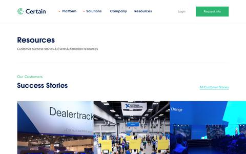 Resources   Certain, Inc. - Event Automation Software